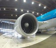 Jet plane during maintenance Royalty Free Stock Image