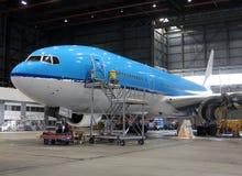 Jet plane during maintenance Stock Images
