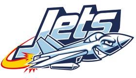 Jet plane mascot. Vector of jet plane mascot royalty free illustration