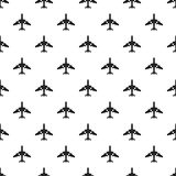 Jet plane pattern, simple style Royalty Free Stock Photos