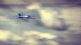 Jet plane in the sky Royalty Free Stock Photography