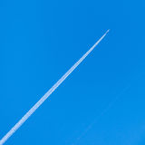 Jet plane in sky Royalty Free Stock Photos