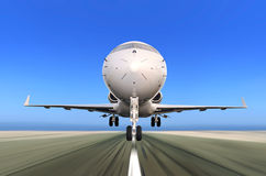 Jet Plane Taking off with Motion Blur Royalty Free Stock Photos