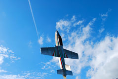 Jet plane taking off vertically Stock Photos