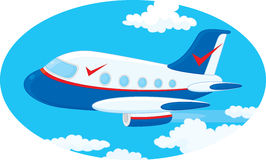 Airplane. Jet plane, vector clip-art on a white background Royalty Free Stock Photo