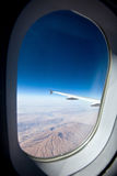 Jet plane window Royalty Free Stock Photos