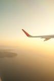 Jet plane window sky view island Stock Photos