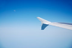 Jet plane wing Stock Photo