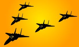 Jet Planes in Conflict Stock Image