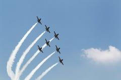 Jet planes contrail Stock Image