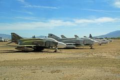 Jet Planes in Pima Air and Space Museum. Tucson, Arizona, USA - April 22, 2014: Jet Planes in the Pima Air and Space Museum boneyard, Arizona stock image