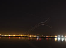 Jet Planes Taking Off At Oakland Airport Stock Image