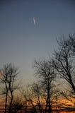 Jet Plume no por do sol Fotos de Stock