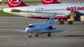 Jet privado almacen de metraje de vídeo