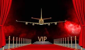Jet privado de la alfombra roja con un lujo vip libre illustration
