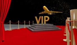 Jet privado de la alfombra roja con un lujo vip stock de ilustración