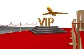 Jet privado de la alfombra roja con un lujo vip ilustración del vector