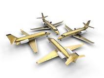 Jet privado de lujo de oro cuatro stock de ilustración