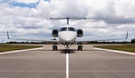 Jet privado en el cauce Fotografía de archivo
