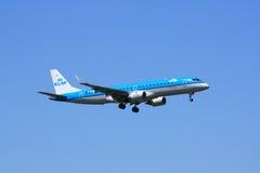 Jet régional de KLM image stock