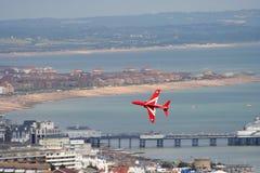 Jet rojo de la flecha Fotografía de archivo libre de regalías