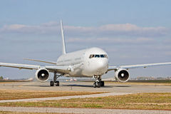 Jet on the runway Stock Photos