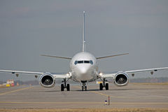 Jet on the runway Royalty Free Stock Photography