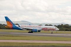 Jet2 semestrar Boeing 757 Arkivfoton