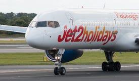 Jet2 semestrar Boeing 757 Fotografering för Bildbyråer