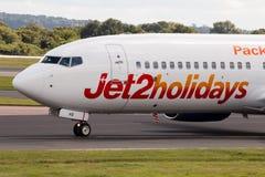 Jet2 semestrar Boeing 737 Arkivfoton
