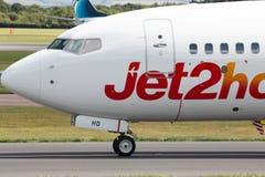 Jet2 semestrar Boeing 737 Royaltyfria Bilder