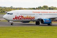 Jet2 semestrar Boeing 737 Arkivbild