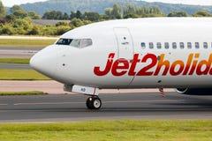 Jet2 semestrar Boeing 737 Fotografering för Bildbyråer