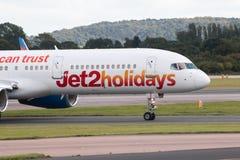 Jet2 semestrar Boeing 757 Royaltyfri Bild