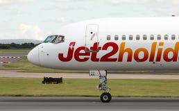 Jet2 semestrar Boeing 757 Royaltyfri Fotografi