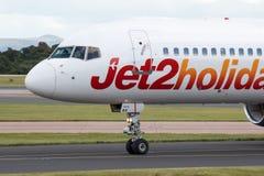 Jet2 semestrar Boeing 757 Arkivbild