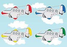 Jet set de la historieta Imagen de archivo libre de regalías