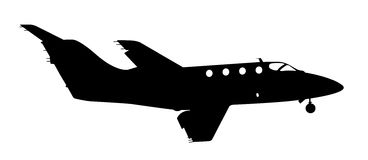 Jet Silhouette Royalty Free Stock Photo