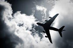 Jet silhouette Stock Image