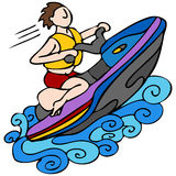 Jet Ski. An image of a man riding a jet ski royalty free illustration