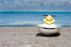 Jet Ski. Beached in Cancun Mexico Stock Images