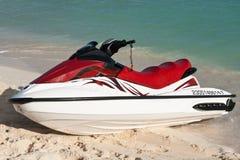 Jet ski. On beach sand near sea Stock Image