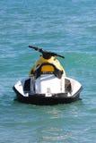 Jet ski. Yellow jet ski in the sea Stock Photos
