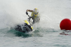 Jet-Ski. Jet ski rider on the race royalty free stock photography