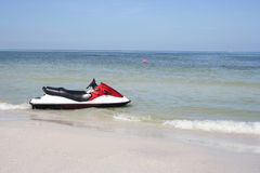 Jet-ski. By the beach Royalty Free Stock Photos