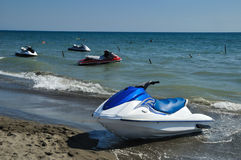 Jet ski. On the sand at the beach Stock Photography