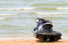 Jet ski. On the beach looking at the sea Stock Photography