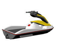 Jet Ski. Isolated Jet ski Stock Photos