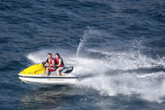 Jet-Ski in Acapulco-Bucht Lizenzfreies Stockbild