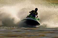 Jet ski action Stock Image